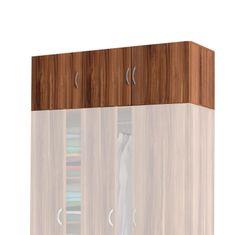 IDEA nábytek Nástavec 3dveřový 405067 ořech