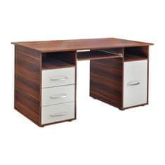IDEA nábytek nábytek Psací stůl 60194 ořech/bílá