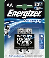 Energizer Ultimate Lithium AA (LR6) baterija, 2 komada