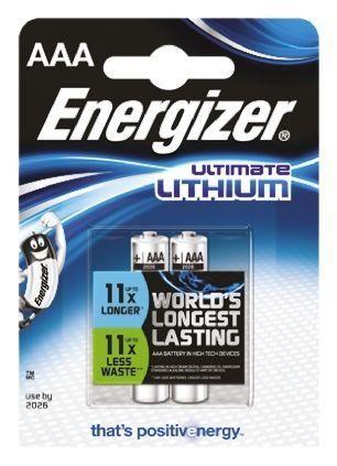 Energizer Ultimate Lithium AAA (LR03) baterija, 2 kosa