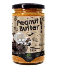 Nature's finest Bio Cacao & Coconut Peanut Butter maslac od kikirikija, kakao i kokos, 350 g