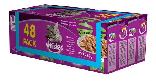 Whiskas casserole mix. výber v želé 48pack