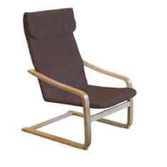 IDEA nábytek Křeslo LISA hnědé K68