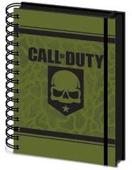 Call of Duty Spirálový blok A5 Call of Duty - Skull, linkovaný