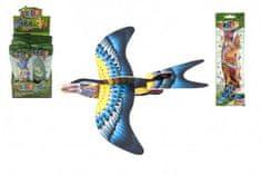 Teddies Letadlo házecí skládací pták pěna 18cm mix barev v sáčku