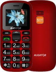 Aligator A321, červeno/čierny + stolní nabíječka