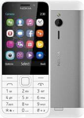 Nokia 230, Single Sim, strieborná
