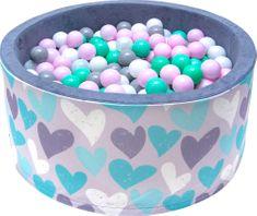 iMex Toys 2822 Suchý bazén s míčky růžový