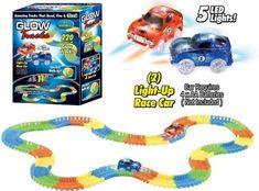 iMex Toys Glow Tracks svítící autodráha 220 dílů 2 autíčka