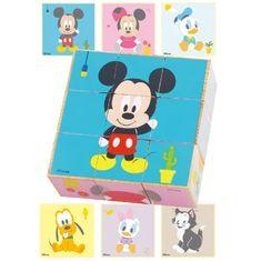 Derrson Disney Dřevěné obrázkové kostky