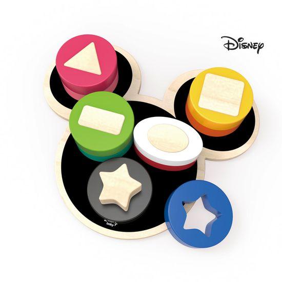 Derrson Disney Dřevěné motorické tvary Mickey