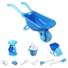 iMex Toys iMex Velký set s kolečkem a doplňky modrý