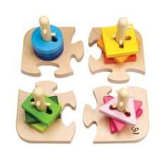Hape Kreatívna stavebnica 4 tvary a puzzle