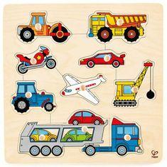 Hape Vkladacie puzzle s úchytkami Dopravné prostriedky