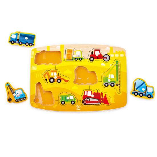 Hape Vkladacie puzzle Stavebné autá