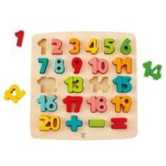 Hape Vkladacie puzzle Čísla pastelové