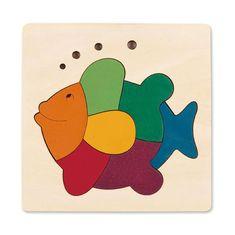 Hape Vkladacie puzzle Dúhová rybka