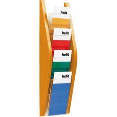 Helit Prezentačný stojan 4x1/3A4 oranžový