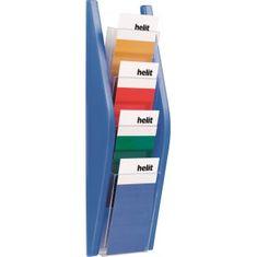 Helit Prezentačný stojan 4x1/3A4 modrý