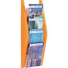 Helit Prezentačný stojan 4xA5 oranžový