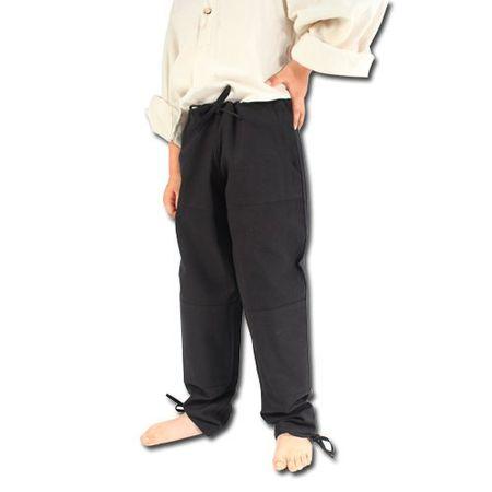 Kalhoty jednoduché černé (velikost: l)