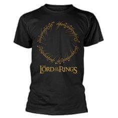 PHD Merchandise Tričko Lord of the Rings - Ring Inscription Gold