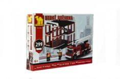 Dromader Stavebnice hasiči 21504 299ks v krabici 35x25,5x5,5cm