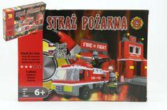 Dromader Stavebnice Hasiči Auto 21602 301ks v krabici 35x25x5,5cm