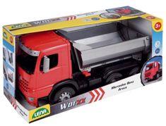 LENA Auto sklápěč Worxx plast 46cm 1:15 v krabici Mercedes Arocs