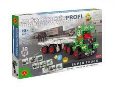 PEXI Malý konstruktér Profi Super Truck Tahač kov 867ks stavebnice v krabici 50x35x5cm
