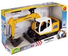 LENA Auto Bagr Worxx plast 48cm 1:15 v krabici Liebherr A918 Litronic