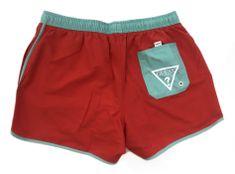 Guess Pánské plavkové šortky F94T00TEL60-G501 červená - Guess