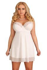 Lupoline Bílá noční košilka 107 - LUPOLINE