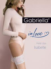 Gabriella Tenké samodržící punčochy se vzorem - CALZE ISABELLE - GABRIELLA
