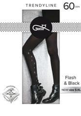 Gatta Dámské punčochové kalhoty Gatta Flash & Black vz.02 60 den 5XL
