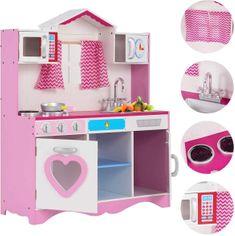 Derrson dětská dřevěná kuchyňka Pink Lady