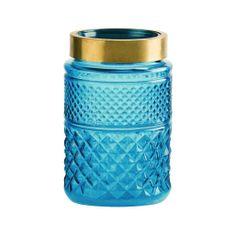 Butlers Váza 20 cm - modrá/zlatá