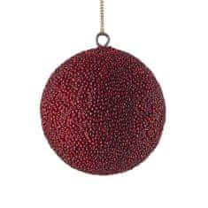 Butlers Vánoční koule s korálky 8 cm - bordó
