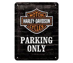 Postershop cedule Harley Davidson Parking Only