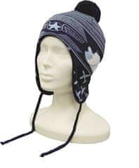Capu Dětská zimní čepice CAPU 4463 tmavě modrá