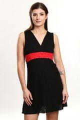Violana Noční košilka Violana Marina black-red - bez rukávů