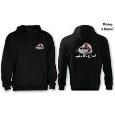 Hell-Cat Mikina Hell-Cat klokánek s kapucí černá