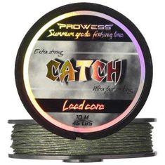 Prowess Olověná šnůra CATCH Lead Core 45 lbs, 10m (camo zelená)