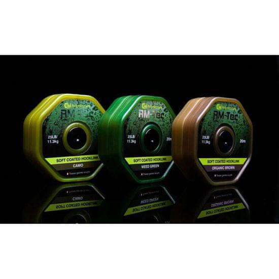 RIDGEMONKEY RM-TEC Soft Coated potahovaná šňůra 35lb/20m barva: Camo-Kamufláž