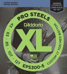 Daddario EPS300-5 Struny na päťstrunovú basgitaru