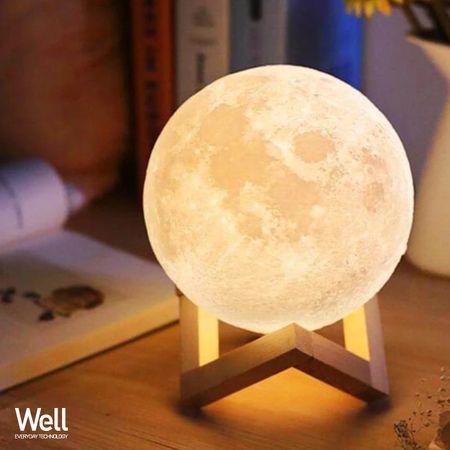 Well 3D MOON LED namizna nočna svetilka