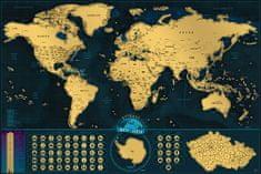 Giftio Stírací mapa světa Deluxe XL česky