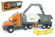 Wader Auto Super Tech Truck návěs s rukou a kontejnery plast 78cm v krabici Wader