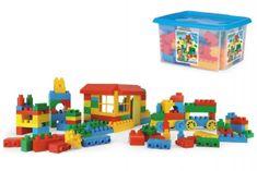Wader Kostky stavebnice Block plast 132ks Wader v plastovém boxu 40x23x35cm
