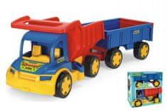 Wader Auto Gigant Truck sklápěč + dětská vlečka plast 55cm v krabici Wader